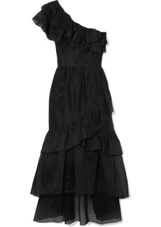 Ulla Johnson Clemente One-shoulder Ruffled Cotton And Silk-blend Organza Midi Dress