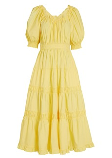 Ulla Johnson Colette Tiered Cotton Midi Dress