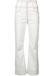 Ulla Johnson contrast stitch flared jeans