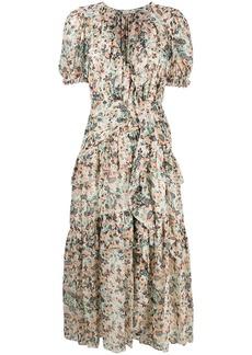 Ulla Johnson Delfine tiered ruffle midi dress