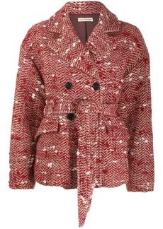 Ulla Johnson Dillon belted tweed jacket