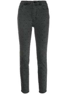 Ulla Johnson dotted cropped jeans