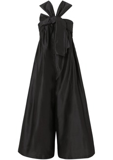Ulla Johnson Doutre Bow-detailed Taffeta Jumpsuit