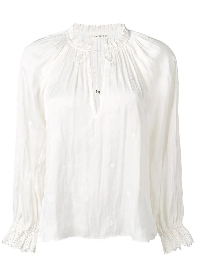 Ulla Johnson drawstring neck blouse