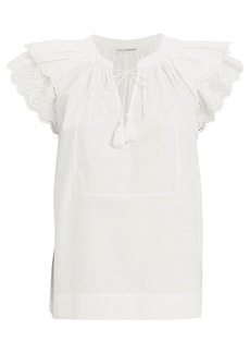 Ulla Johnson Elm Eyelet Cotton Blouse