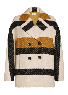 Ulla Johnson Emery Striped Double Breasted Jacket