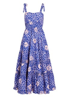 Ulla Johnson Eryn Printed Poplin Midi Dress