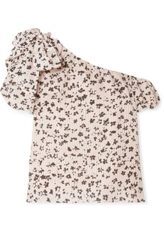 Ulla Johnson Femi One-shoulder Floral-print Cotton And Silk-blend Top
