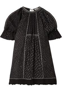 Ulla Johnson Feroz Crochet-trimmed Printed Cotton-gauze Mini Dress