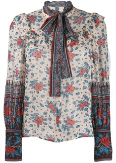 Ulla Johnson floral long-sleeve blouse