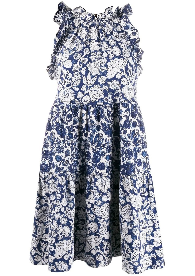 Ulla Johnson floral patchwork Talita dress
