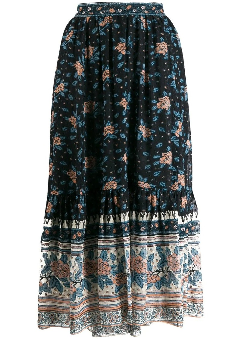Ulla Johnson floral print gypsy skirt