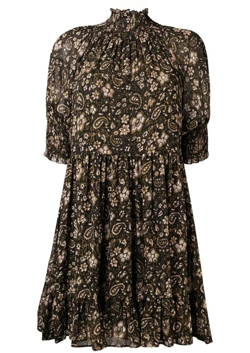 Ulla Johnson floral print silk dress
