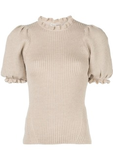 Ulla Johnson frill-trimmed knitted top