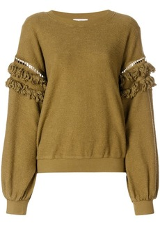 Ulla Johnson fringed sleeves sweatshirt