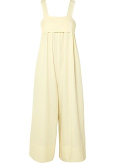 Ulla Johnson Iggy Brushed Tencel, Linen And Cotton-blend Twill Jumpsuit