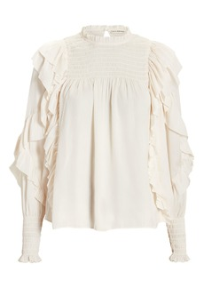 Ulla Johnson Jessamine Smocked Blouse