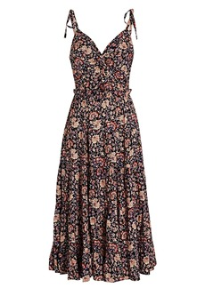 Ulla Johnson Kali Floral Cotton Midi Dress