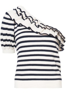 Ulla Johnson Laila striped asymmetric top