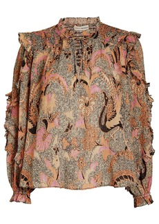 Ulla Johnson Lara Birds of Paradise Lurex Blouse