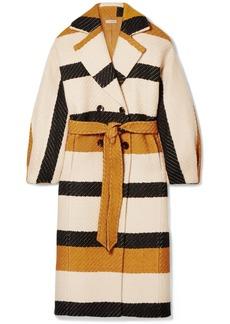 Ulla Johnson Lawson Double-breasted Striped Woven Coat