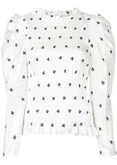 Ulla Johnson Leonis embroidered taffeta blouse
