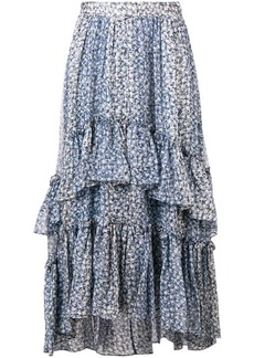 Ulla Johnson Maria Printed Silk Lurex Skirt