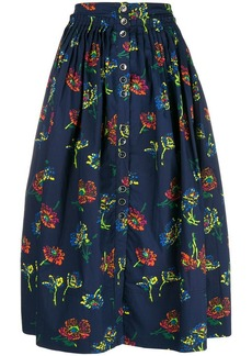Ulla Johnson Midnight pleated skirt