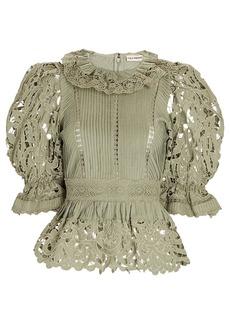 Ulla Johnson Mildred Cotton-Linen Lace Top