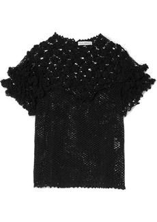 Ulla Johnson Mirella Crocheted Pima Cotton Top