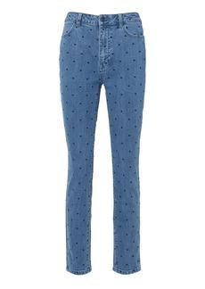 Ulla Johnson Prince Indigo Polka Dot Jeans