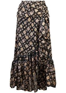 Ulla Johnson printed asymmetric midi skirt