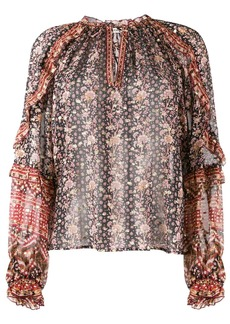 Ulla Johnson printed long sleeve blouse