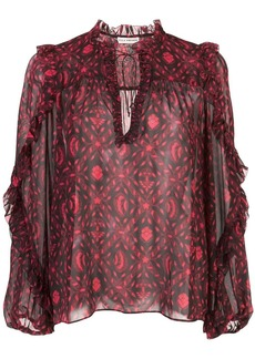 Ulla Johnson printed silk blouse