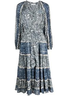 Ulla Johnson psychedelic marble print dress