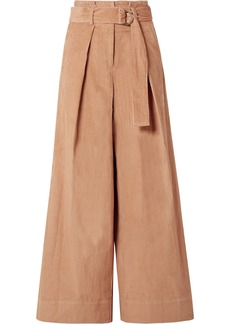 Ulla Johnson Rhodes Belted Cotton-corduroy Wide-leg Pants