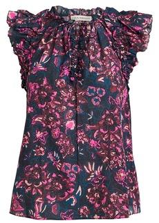 Ulla Johnson Rina Floral Printed Ruffle Top
