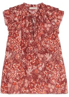 Ulla Johnson Rina Ruffled Floral-print Cotton-blend Voile Blouse