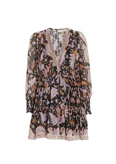 Ulla Johnson Rosetta Floral Silk Mini Dress