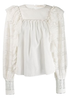 Ulla Johnson ruffle embroidered blouse