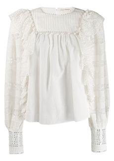 Ulla Johnson ruffle embroidered blouse