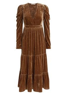 Ulla Johnson Shani Velvet Midi Dress