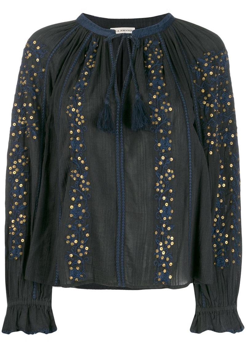 Ulla Johnson tassel detail blouse