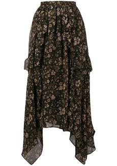 Ulla Johnson Torri asymmetric silk skirt