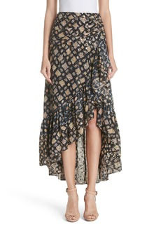 Ulla Johnson Ailie Silk Blend High/Low Skirt