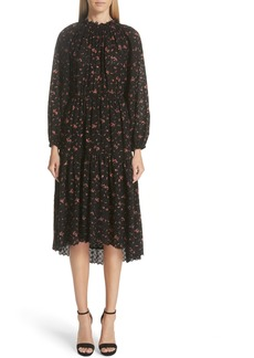 Ulla Johnson Ambre Floral Print Broderie Anglaise Dress