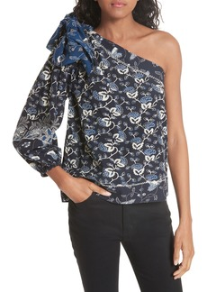 Ulla Johnson Asima Batik One Shoulder Blouse