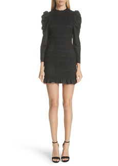 Ulla Johnson Aurele Smocked Minidress
