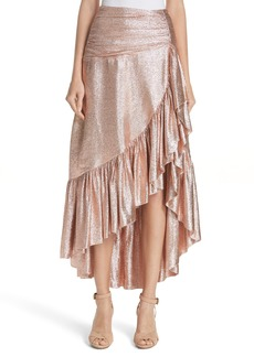 Ulla Johnson Axelle Metallic Silk Blend Skirt