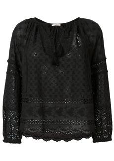 Ulla Johnson Cara crochet stitch blouse - Black